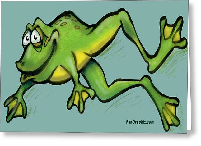 Frog Greeting Card by Kevin Middleton