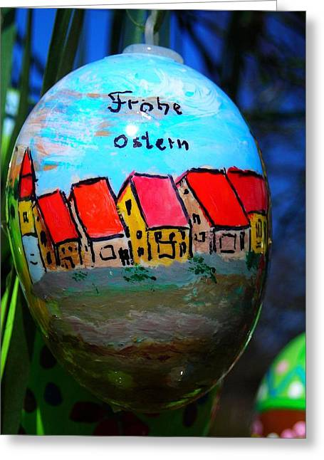Frohe Greeting Cards - Frohe Ostern Greeting Card by Juergen Weiss