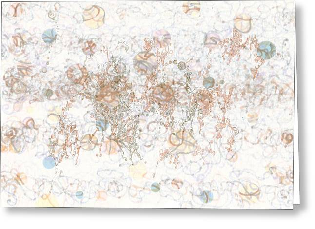 Tortuous Greeting Cards - Frolic in Tortuosity Greeting Card by Regina Valluzzi