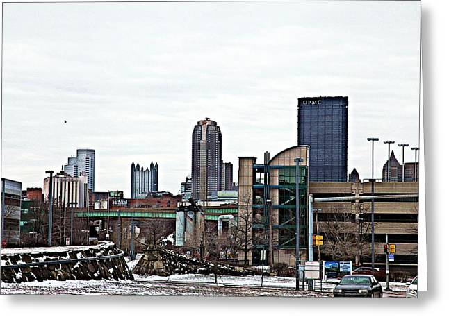Pnc Park Digital Art Greeting Cards - From A Distance Greeting Card by Melinda Dominico