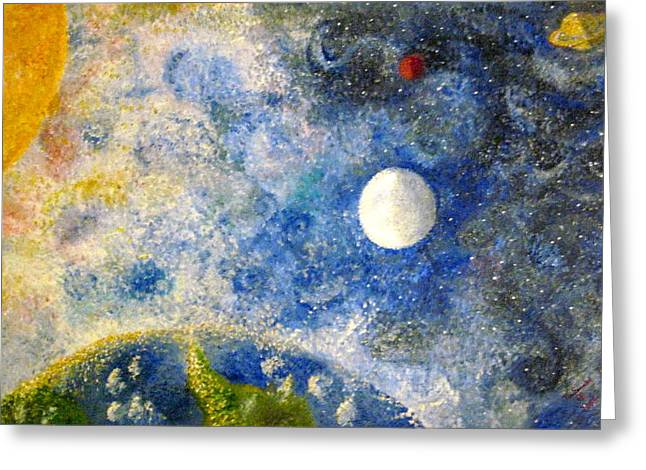 Dream Scape Greeting Cards - From A Distance Greeting Card by Tina Swindell