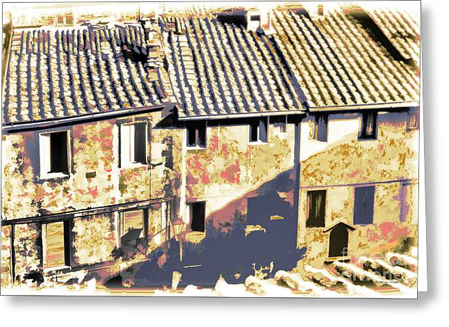 Window Of Life Greeting Cards - From a Rooftop Greeting Card by Gordon Wood