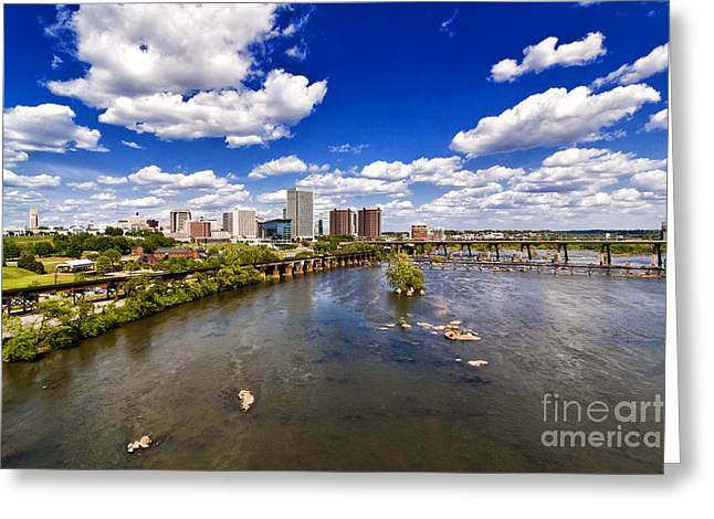 Richmond Va Greeting Cards - From Afar Greeting Card by Tim Wilson