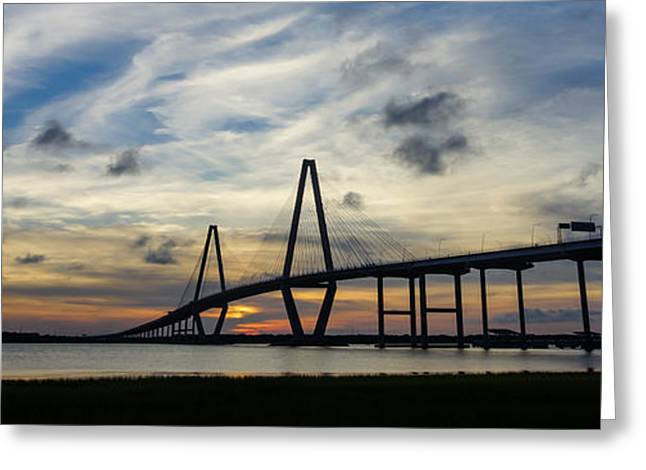 Sunset Prints Greeting Cards - From Here To There Pano Greeting Card by Jennifer White