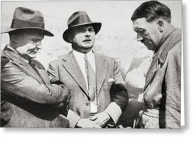 Goering Greeting Cards - From Left To Right, Hermann Wilhelm G Greeting Card by Ken Welsh