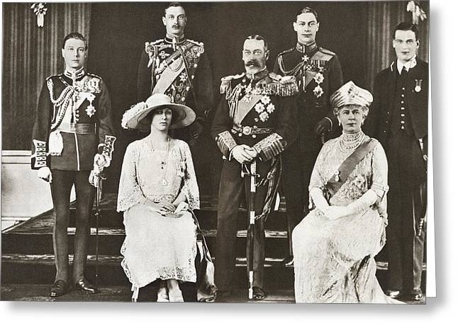 From Left To Right, The Prince Of Wales Greeting Card by Vintage Design Pics