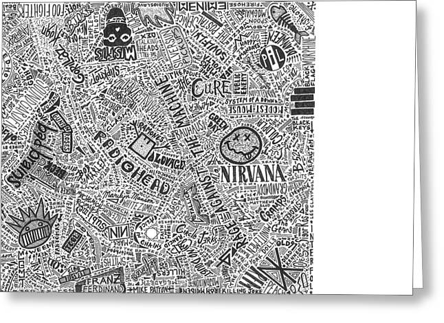 Rocks Drawings Greeting Cards - From Punk To Thrash Greeting Card by Mark Richardson