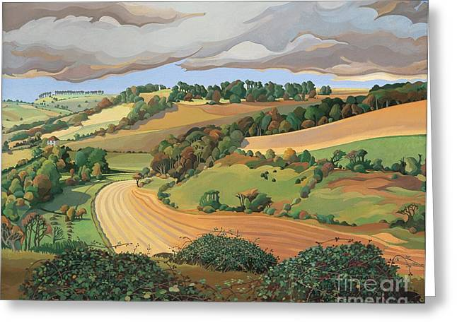From Solsbury Hill Greeting Card by Anna Teasdale