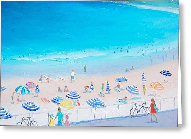Seaside Greeting Cards - From the Boardwalk Greeting Card by Jan Matson