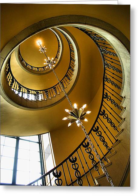 Spiral Staircase Greeting Cards - From the Bottom Greeting Card by Steven Ainsworth