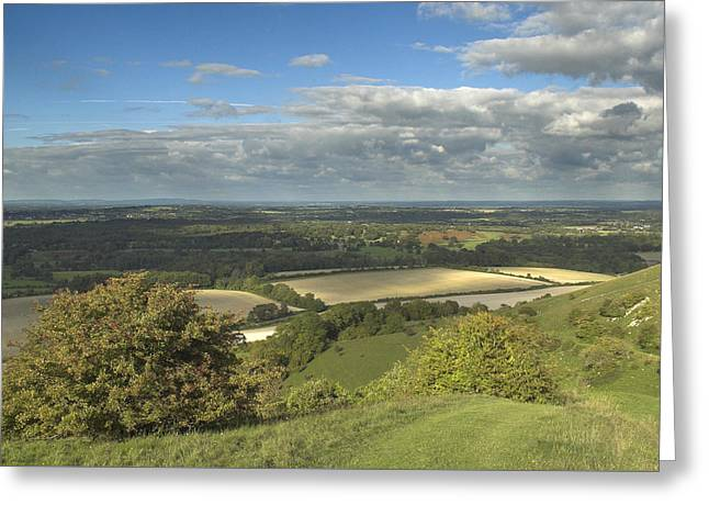 From The Downs To The Weald Greeting Card by Hazy Apple