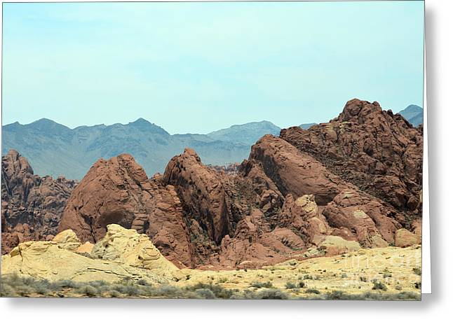 Boulders Tapestries - Textiles Greeting Cards - From The Earth Greeting Card by Edna Weber