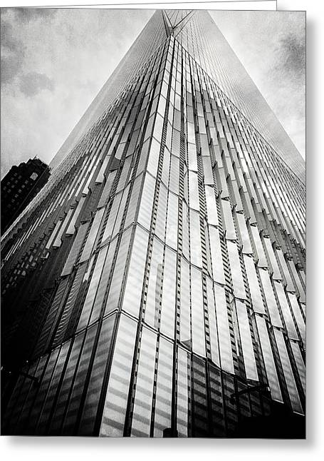 Wtc 11 Greeting Cards - From the Ground Up Greeting Card by Belinda Greb