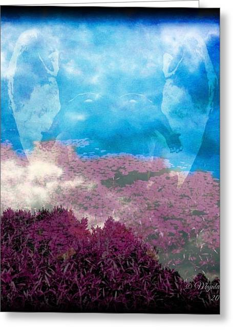 Eerie Greeting Cards - From the Heavens Greeting Card by Majula Warmoth