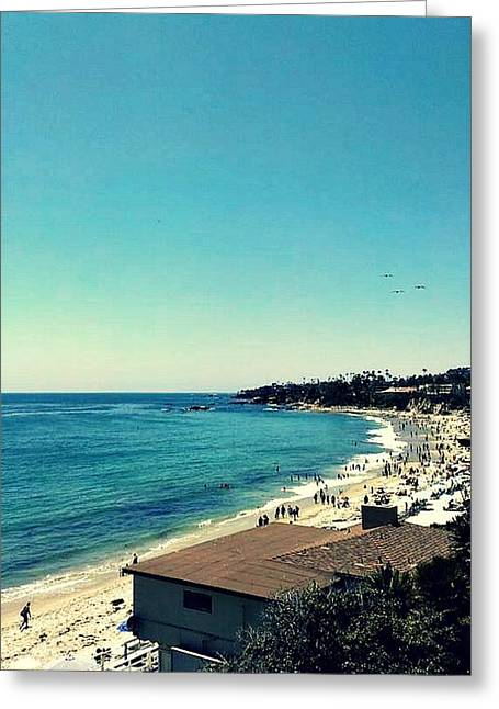 Californian Drawings Greeting Cards - From the Laguna Beach Series Greeting Card by Missy  Brage