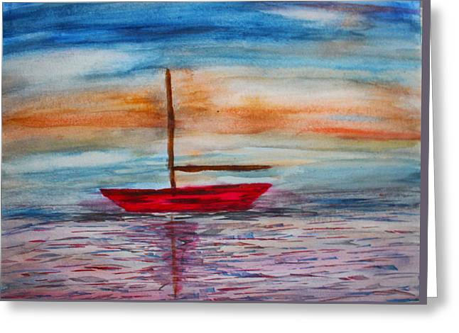 Blue Sailboats Greeting Cards - From The Pier Greeting Card by Stephen Parulski