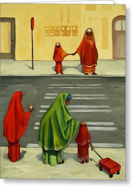 Best Sellers -  - Crosswalk Greeting Cards - From There To Here Greeting Card by Joan Engelmeyer