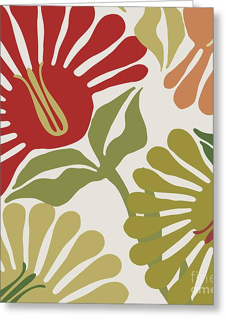 Antique Style Greeting Cards - Frond Flowers Greeting Card by Mindy Sommers