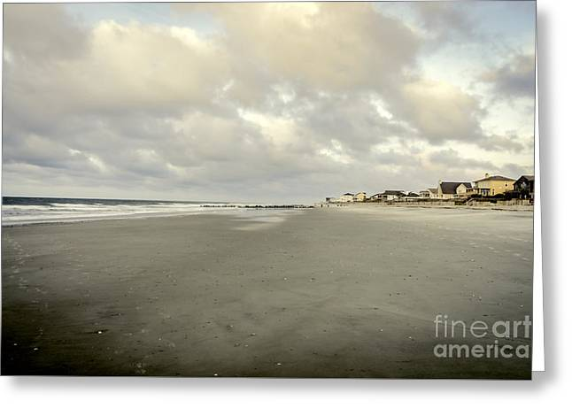 Ocean Shore Greeting Cards - Front Beach Greeting Card by Elvis Vaughn