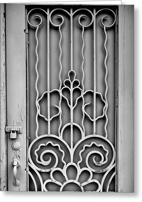 Wooden Building Greeting Cards - Front Door Detail Greeting Card by Colleen Kammerer
