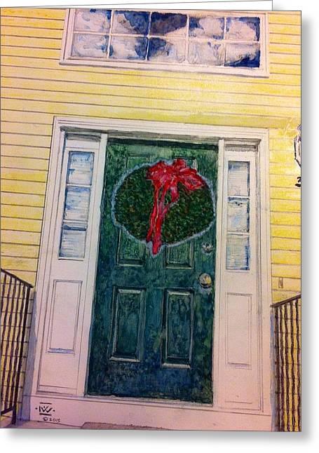 Front Door Greeting Card by Nigel Wynter