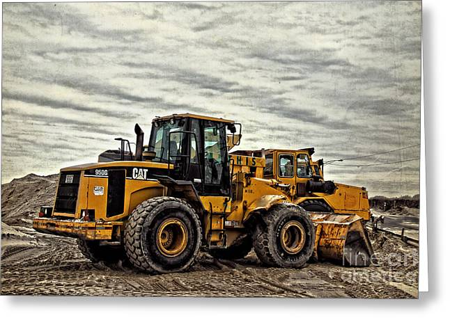 Front End Loader Greeting Cards - Front End Loader Greeting Card by Tom Gari Gallery-Three-Photography