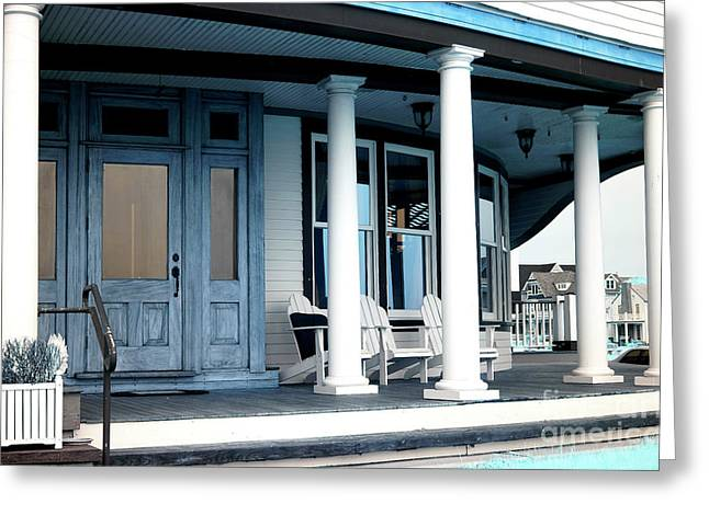 """front Porches"" Greeting Cards - Front Porch infrared Greeting Card by John Rizzuto"