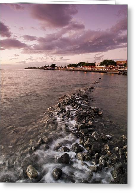 Lahaina Greeting Cards - Front Street Lahaina Maui Greeting Card by Brandon Vincent