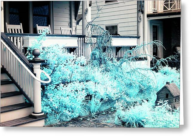 Front Porches Greeting Cards - Front Yard Blues Greeting Card by John Rizzuto
