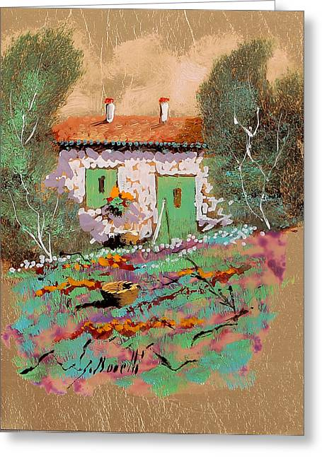Jewelry Greeting Cards - Frontale Greeting Card by Guido Borelli