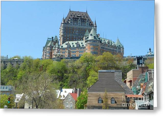 In-city Pyrography Greeting Cards - Frontenac Greeting Card by Stella Sherman