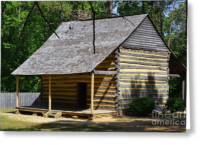 Log Cabins Greeting Cards - Frontier Greeting Card by Lew Davis