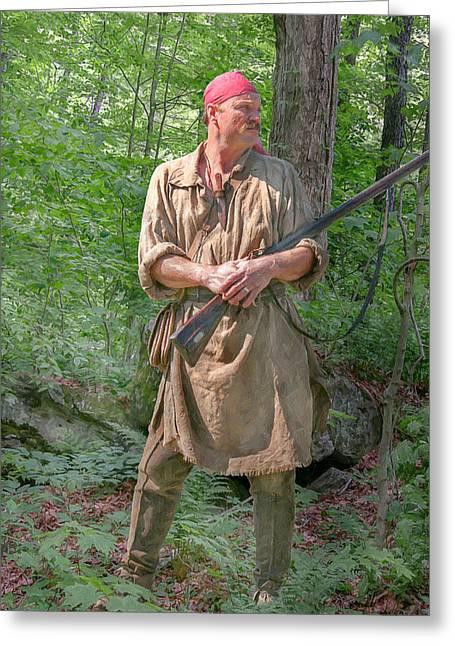 Seven Years War Greeting Cards - Frontiersman Scout    Greeting Card by Randy Steele