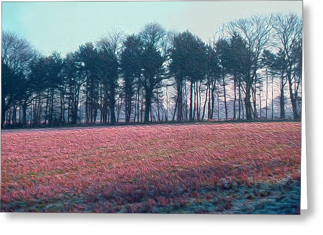 Shades Of Red Greeting Cards - Frost Fields  Greeting Card by Elizabetha Fox
