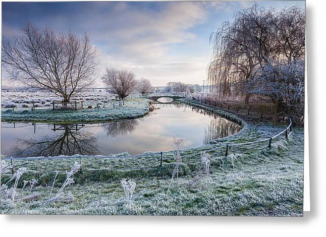 Frost On The Marshes Greeting Card by George Johnson