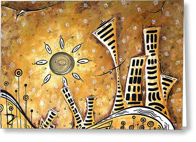 Artist Series Greeting Cards - Frosted City by MADART Greeting Card by Megan Duncanson