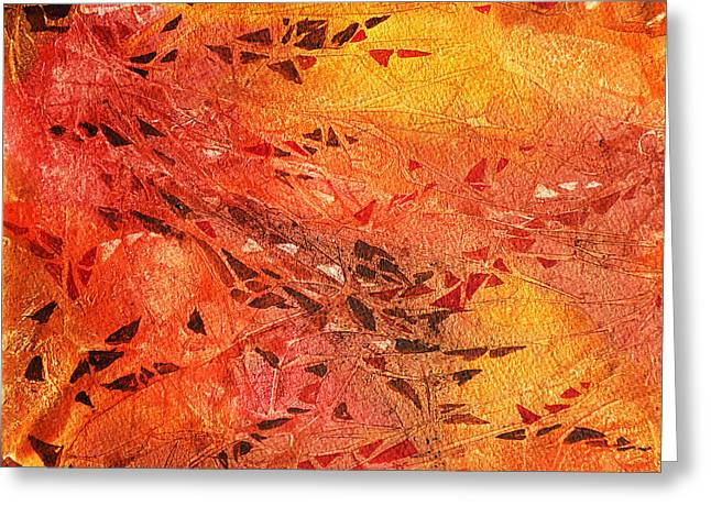 Abstract Expression Greeting Cards - Frosted Fire I Greeting Card by Irina Sztukowski