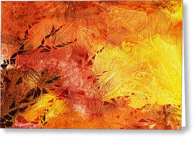 Abstractions Greeting Cards - Frosted Fire II Greeting Card by Irina Sztukowski
