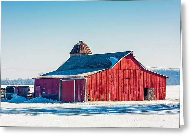 Frosty Farm Greeting Card by Todd Klassy