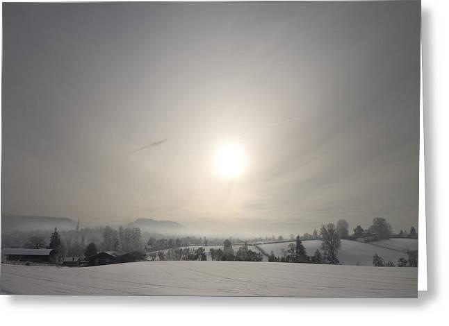 Frosty Midday Greeting Card by Angel  Tarantella