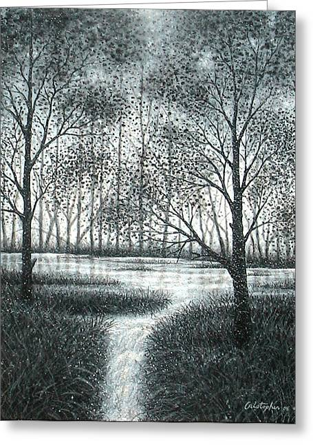 Cristopher Ernest Greeting Cards - Frosty Morning Greeting Card by Cristophers Dream Artistry