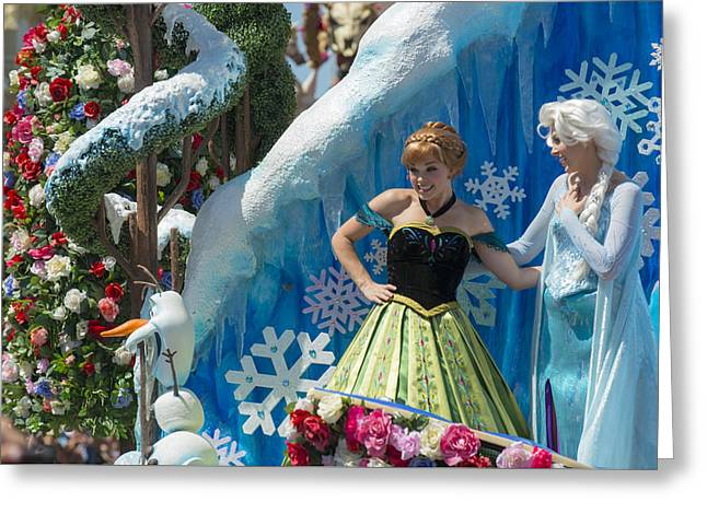 Main Street Greeting Cards - Frozen Disney World Greeting Card by Kevin Cable