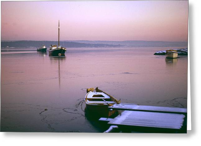 Oslo Greeting Cards - Frozen Fjord Greeting Card by Dennis  Rundlett