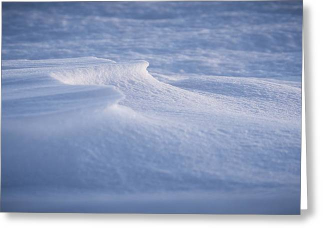 Snow Cornice Greeting Cards - Frozen Ground Greeting Card by Eric Chamberland