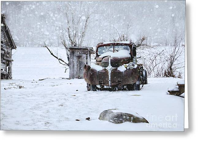 Mopar Photographs Greeting Cards - Frozen in Time Greeting Card by Benanne Stiens