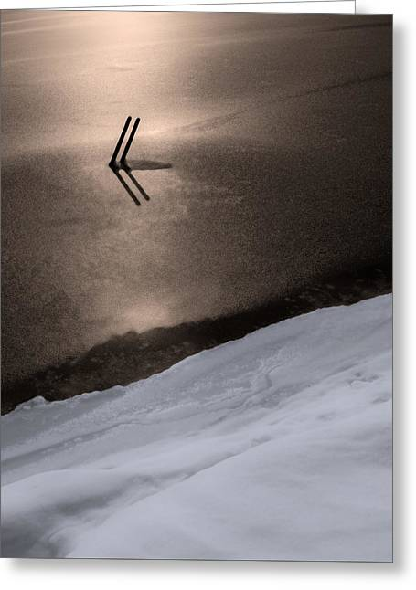 Winter Abstract Greeting Cards - Frozen in Time Greeting Card by Don Spenner