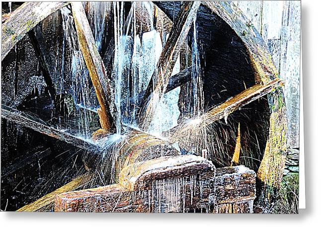 Grist Mill Greeting Cards - Frozen - John P. Cable Grist Mill Greeting Card by Roe Rader