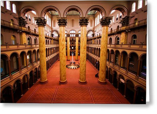 National Building Museum Greeting Cards - Frozen Music Greeting Card by Mitch Cat
