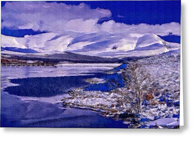 Mario Carini Paintings Greeting Cards - Frozen Shores Greeting Card by Mario Carini