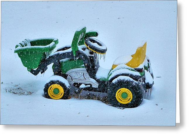 Child Toy Greeting Cards - Frozen Solid Greeting Card by Karen M Scovill